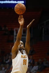 UTEP's Bryson Williams takes a shot against Middle Tennessee during the game Thursday, Jan. 30, at the Don Haskins center in El Paso.