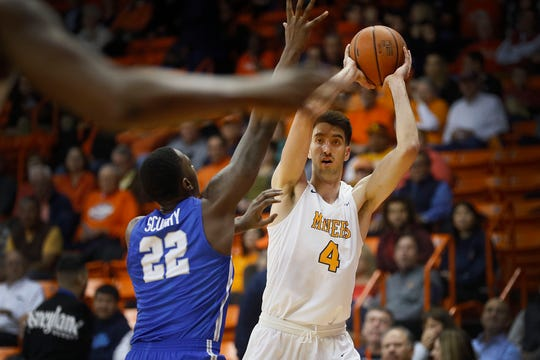 UTEP's Eric Vila during the game against Middle Tennessee Thursday, Jan. 30, at the Don Haskins center in El Paso.