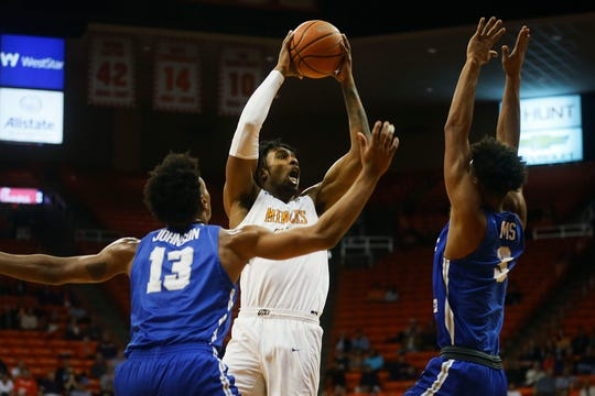 UTEP's Kaden Archie takes a shot against Middle Tennessee during the game Thursday, Jan. 30, at the Don Haskins center in El Paso.