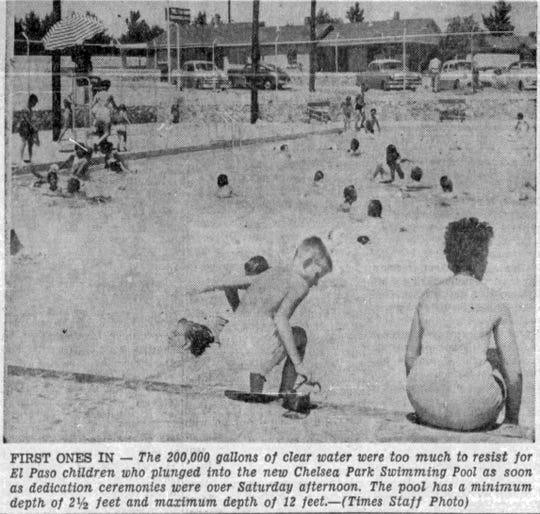 17 June, 1956, Chelsea Park Pool opening.