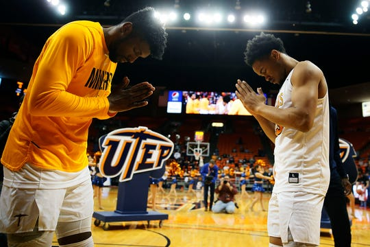 UTEP prepares to take the court for the game against Middle Tennessee Thursday, Jan. 30, at the Don Haskins center in El Paso.