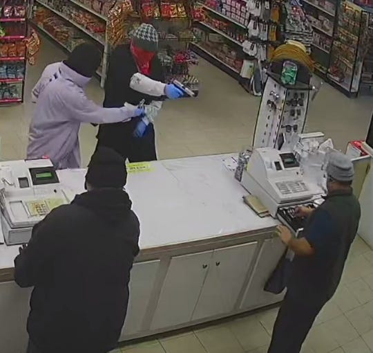 Tulare County sheriff's deputies are looking for three men accused of robbing a Terra Bella store.