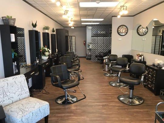 The interior of Bellissima Hair Studio in New City.