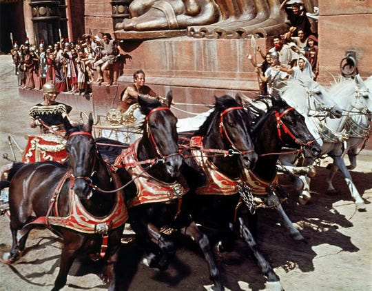 "1959: ""Ben-Hur,"" based on the novel ""Ben-Hur: A Tale of Christ,"" by Lew Wallace."