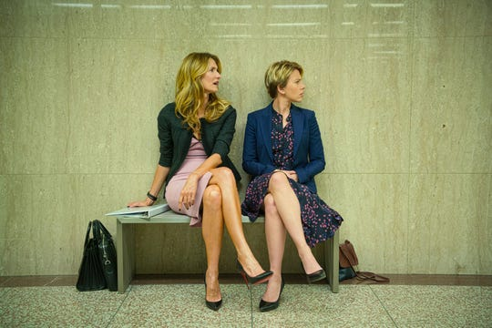 """High-powered divorce lawyer Nora (Laura Dern) wages war in and outside the courtroom for Nicole (Scarlett Johansson) in Noah Baumbach's """"Marriage Story."""""""