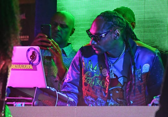 American rapper Snoop Dog performs at the Clevelander Hotel on South Beach Miami prior to Super Bowl LIV between the San Francisco 49ers at Kansas City Chiefs.