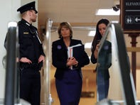 Sen. Lisa Murkowski, R-Alaska, walks in the basement of the U.S. Capitol in Washington, Thursday, Jan. 30, 2020, while leaving at the end of a session in the impeachment trial of President Donald Trump on charges of abuse of power and obstruction of Congress. (AP Photo/Julio Cortez) ORG XMIT: DCJC150