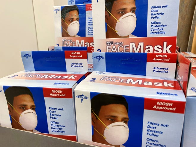 Walgreens in Hoffman Estates, Ill. started stocking heavy duty face masks on Jan. 31, 2020.