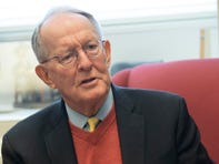 Sen. Lamar Alexander, R-Tenn., announced late Thursday night that he would not support additional witnesses in President Trump's Senate impeachment trial, speaks to USA TODAY from offices in the U.S. Capitol prior to the resuming of the Senate impeachment trial of the removal of Donald J. Trump on Friday, Jan. 31, 2020.