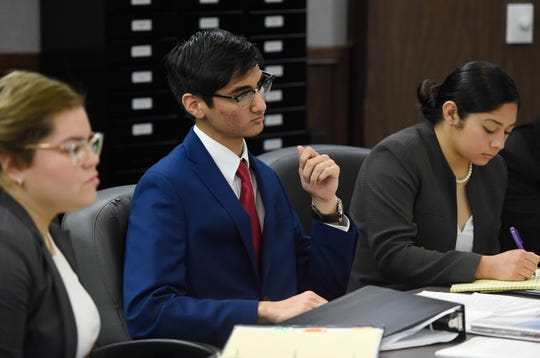Mock Trial teams from across south Texas competed, Saturday, Feb. 1, 2020, at the Nueces County courthouse. The debate topic was based off the Fyre Festival scandal.
