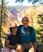 Tony and Jan Kilmek of West Chester during a visit to Yellowstone National Park.