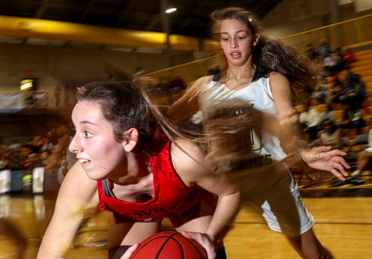 The Kenwood Lady Knights take on the Rossview Lady Hawks in a TSSAA basketball game at Kenwood High School in Clarksville, Tenn., on Friday, Jan. 31, 2020.