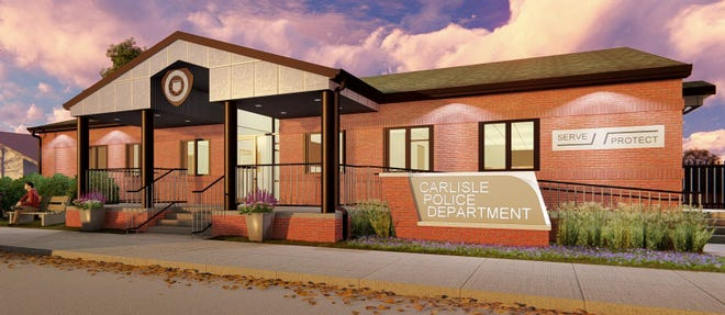 Exterior of proposed new police department.