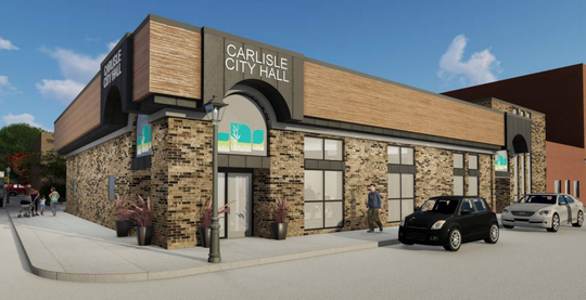 Exterior of proposed new Carlisle City Hall.