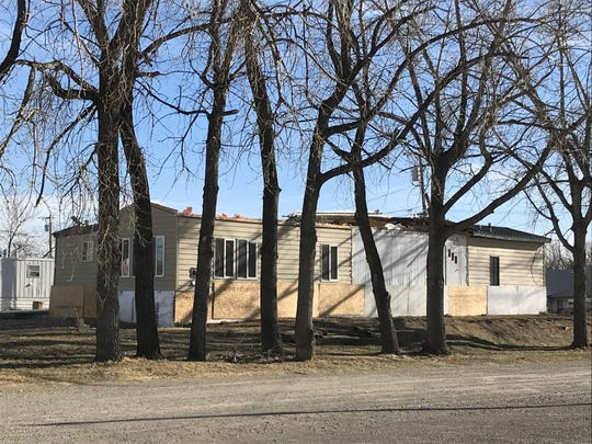 High winds in Great Falls blew roofs off of multiple homes on Saturday, including one off of 13th Street South near the Multi-Sports Complex.