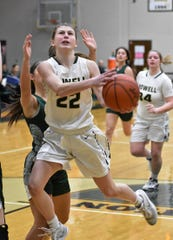 Maeve St. John scored 15 points for Howell in a 43-16 victory over Novi on Friday, Jan. 31, 2020.