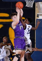 Fowlerville's Brendan Young (24) averaged 26.6 points and 10.7 rebounds this season.