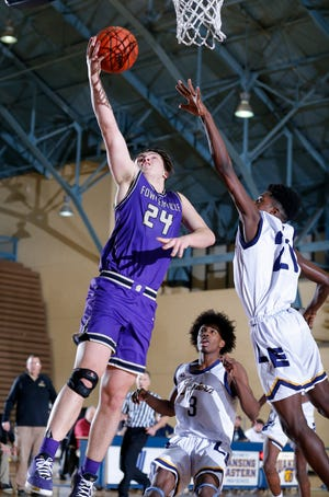 Fowlerville's Brendan Young boosted his scoring average to 25.8 with a 32-point performance against New Lothrop.