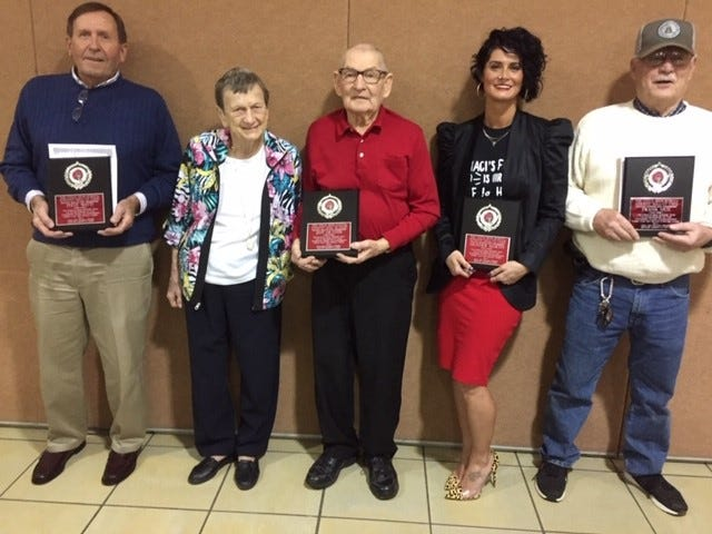 Utica inducted Steve Watts, Heather Martin, Frank Hux and Jeff Hiltner, who was unable to attend the ceremony, into their Athletic Hall of Fame on Friday.