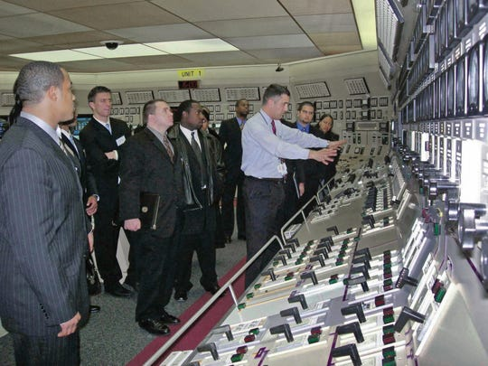 A look inside the control room of a U.S. nuclear power plant.