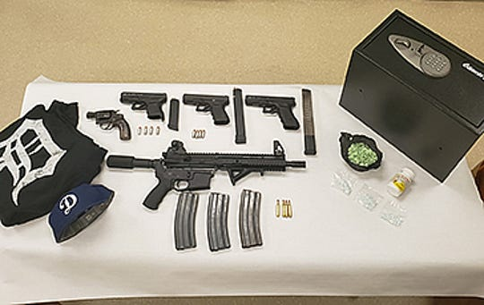 Authorities seized weapons and drugs while conducting a search near Desert Hot Springs on Friday, Jan. 31.