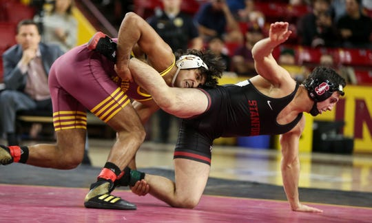 ASU's Anthony Valencia dominates Stanford's 	