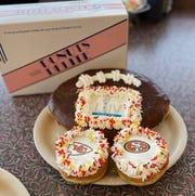Super Bowl doughnuts at Donuts Delite