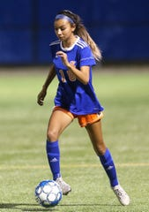 San Angelo Central High School soccer player Angel Alvarado is shown during match earlier in the 2020 season.