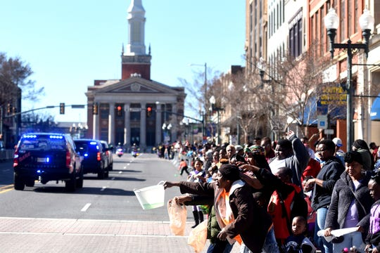 The 32nd Annual African American History Parade in downtown Shreveport February 1, 2020.