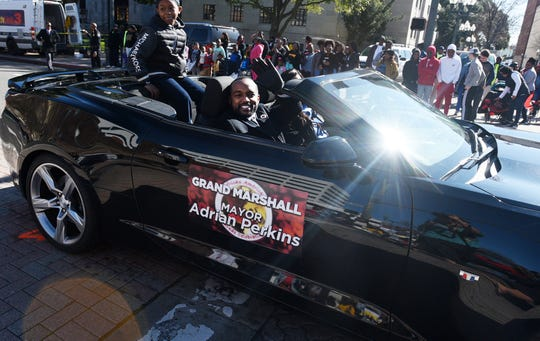 Shreveport Mayor Adrian Perkins was the Grand Marshal of the 32nd Annual African American History Parade in downtown Shreveport February 1, 2020.