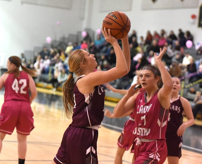 Stuarts Draft's Leah Wood led the Cougars with 18 points in a Shenandoah District girls basketball game at Buffalo Gap Friday night, Jan. 31.