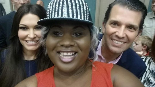 Republican Monique Worthy, center, took a selfie with Donald Trump Jr. and his girlfriend Kimberly Guilfoyle on Oct. 3, 2018, during a Wichita Falls event in support of U.S. Sen. Ted Cruz's re-election.