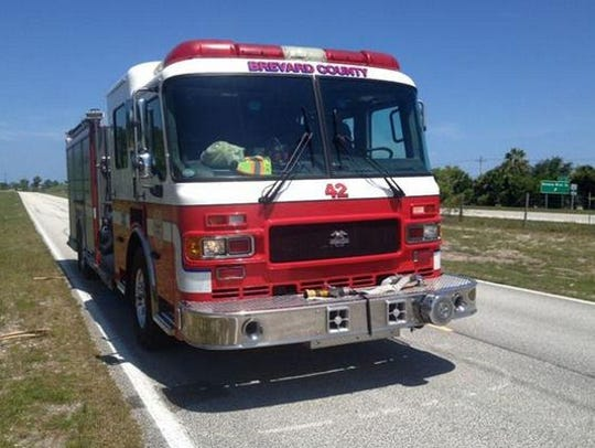 Brevard County Fire Rescue crews contained several brush fires off of Interstate 95 on Sunday