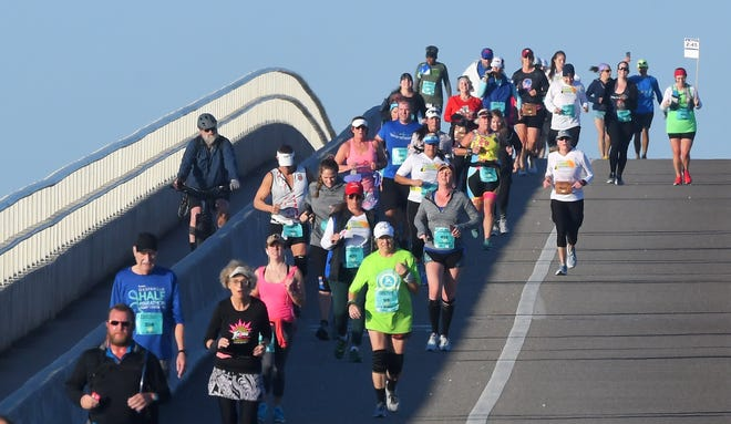 Runners compete in the 2020 Florida Marathon in February. The 2021 Florida Marathon was awarded a $12,471 grant by the Brevard County Commission.