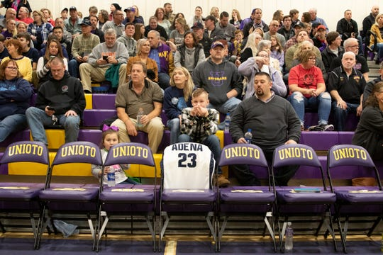 The Frankfort and Chillicothe communities came together to play basketball between Adena and Unioto at Unioto High School and honor Brandon and Jake Smith on Feb. 1, 2020.