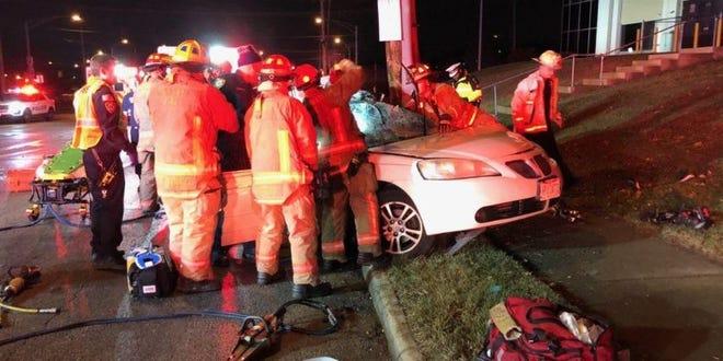 Fatal car crash at Paddock Road and Seymour Avenue