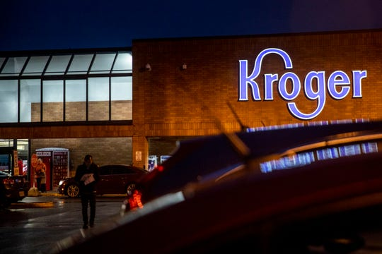 Customers shop at Kroger at 6401 Colerain Avenue in Mt. Airy on Friday, January 31, 2020.  The company said the store will close on Tuesday, March 4.