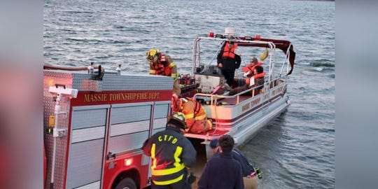 Two kayakers had to be rescued after their kayaks flipped in Caesar's Creek Sunday morning.