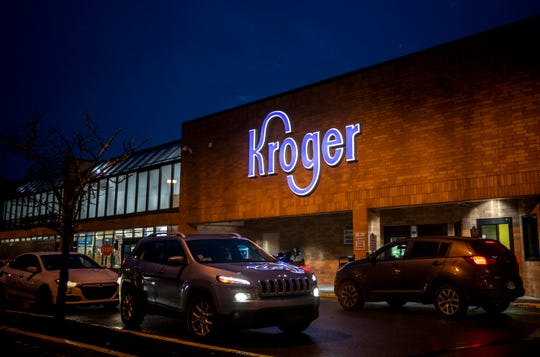 Customers shop at Kroger at 6401 Colerain Avenue in Colerain Township on Friday, January 31, 2020. The company said the store will close on Tuesday, March 4.