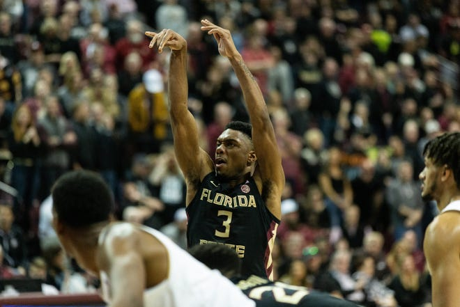 Devin Vassell lead the 'Noles with 27 points at Virginia Tech on Saturday night.