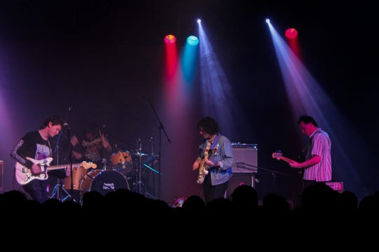 Beach Fossils mellowed out the crowd with their indie pop sound.