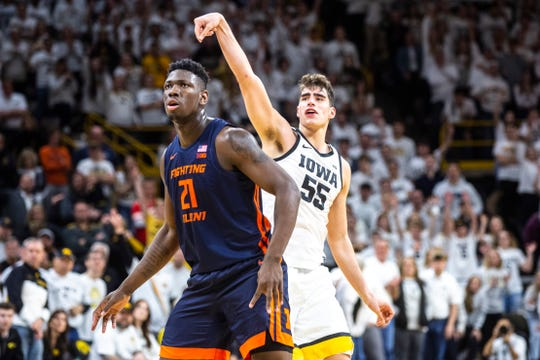 One of Luka Garza's favorite games of his historic 2019-20 season that was cut short was at home against Illinois, on Super Bowl Sunday. Garza hit four 3-pointers that day and scored 25 points in a 72-65 Hawkeye win.