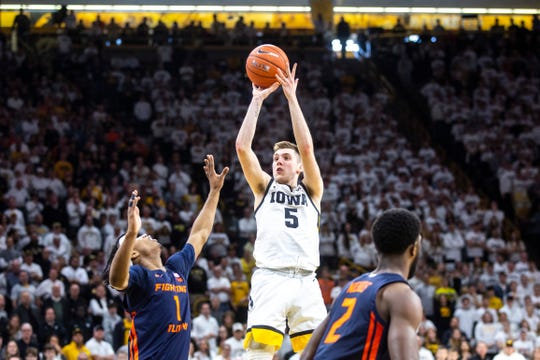 CJ Fredrick and the Hawkeyes dispatched Illinois, 72-65, in the teams' only meeting this season, on Feb. 2 at Carver-Hawkeye Arena.