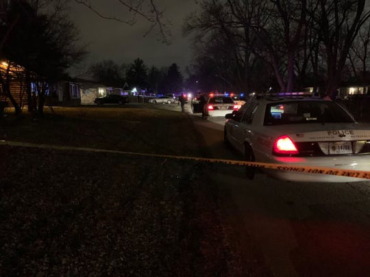 Indianapolis police are investigating after two people were found dead in the 1900 block of North Audubon Road on the city's east side on Saturday, Feb. 1, 2020.