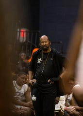 Whitehaven boys basketball head coach Fred Horton watches from the sidelines during a basketball game on Saturday, Feb. 1, 2020  at Lausanne Collegiate School.