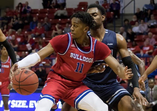 Louisiana Tech University defeated Old Dominion 76-73 with a late second half 3-point basket at the Thomas Assembly Center in Ruston, La. on Feb. 1.