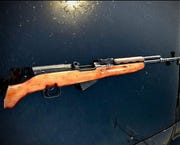 This photo shows an SKS rifle confiscated by Indio police the weekend of Feb. 1, 2020. Officers found it while investigating gunfire at Cassia Drive and Tecoma Avenue.