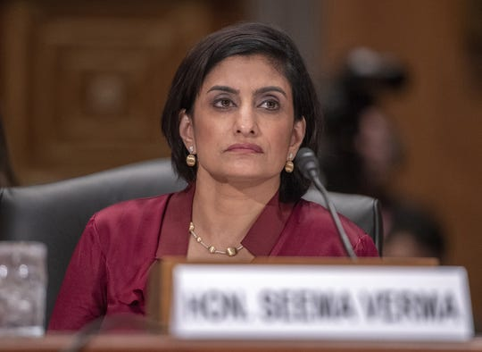 Seema Verma, Administrator, Centers for Medicare & Medicaid Services, testifies before the United States Senate Committee on Homeland Security & Governmental Affairs on Capitol Hill in Washington, D.C., on August 21, 2018. (Ron Sachs/CNP/Zuma Press/TNS)