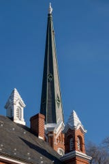 First Presbyterian Church in the 200 block of East Market Street is the tallest steeple in York at 128 feet and the highest from ground to steeple top at 189 feet.