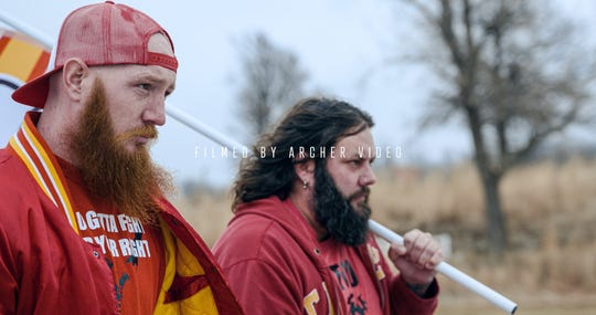 The Rhatigan Brothers, Derek and Joe, are from Seneca and mostly perform in the Joplin area. They traveled to Arrowhead Stadium and two other locations in Kansas City to make their video.